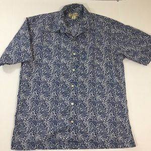 Tori Richard Koi Fish Hawaiian Button Shirt M